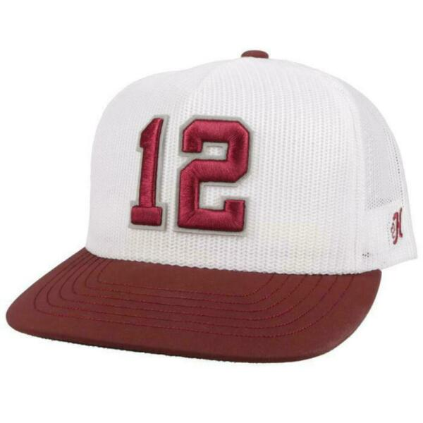 HOOEY TEXAS Aamp;M 12TH MAN WHITE HATS CAP 7076T WH $31.95