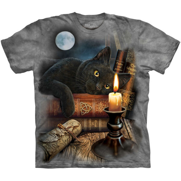 THE MOUNTAIN THE WITCHING HOUR BLACK CAT MAGIC FANTASY T TEE SHIRT S 5XL