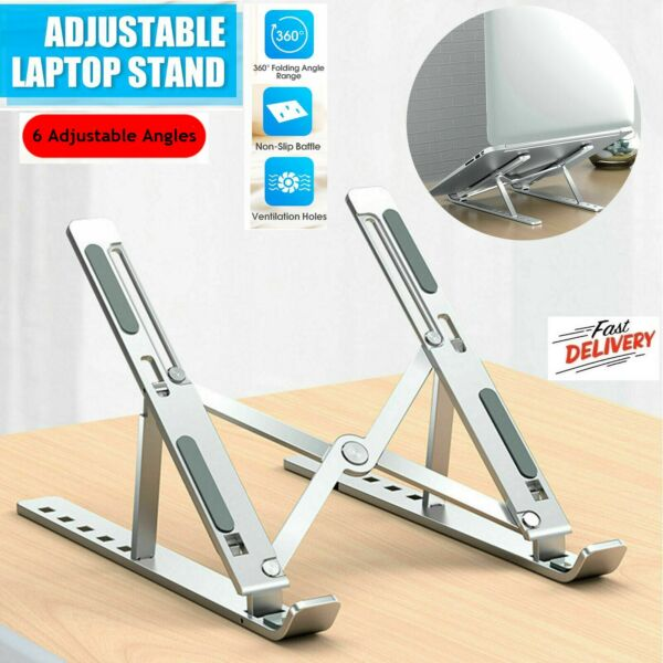 New Adjustable Foldable Laptop Notebook Tablet Riser Tray Holder Portable Stand $17.99