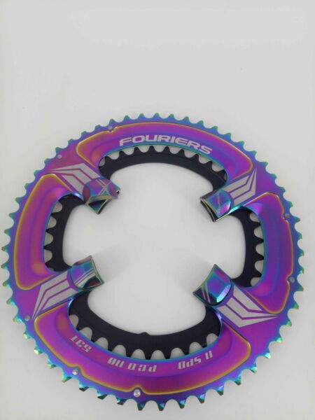 FOURIERS BCD110 Double Bike 39T 53T Chainring For Shimano 5800 Crank Ti coating $115.90