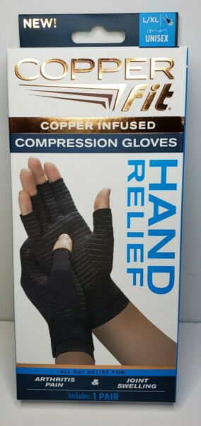 Copper Fit Hand Relief Compression Gloves Large Extra Large As Seen on TV