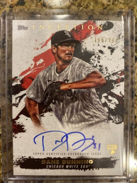 Dane Dunning 2021 Inception Rookie AUTO 200 $25.00