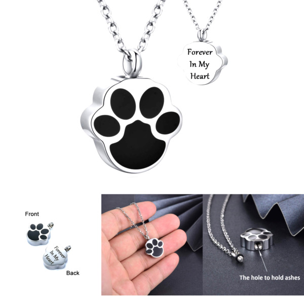 Murinsar Dog Cat Paw Memorial Urn Pendant Necklace for Ashes Animal Footprint... $12.93