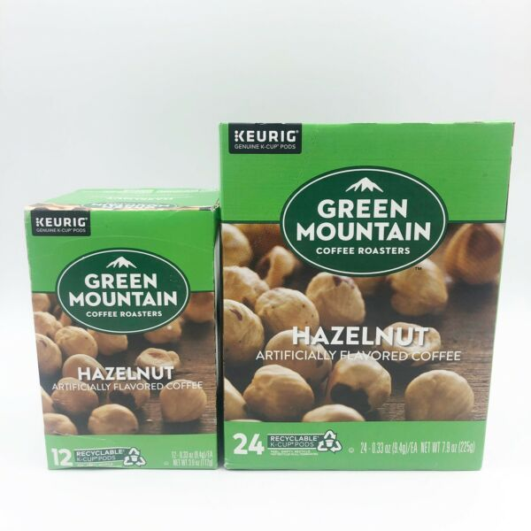 Keurig Green Mountain Hazelnut Coffee K cups 36 Total BB May And June 2022