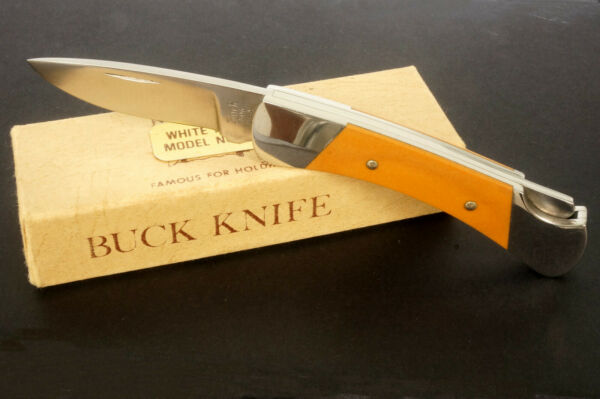 RARE VINTAGE BUCK KNIFE MOD.506 NEVER USED WITH BOX