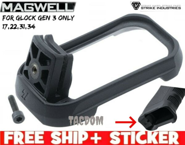 Strike Industries GEN 3 for Glok 17 22 31 34 MAGWELL Black Works with New EMP $21.93