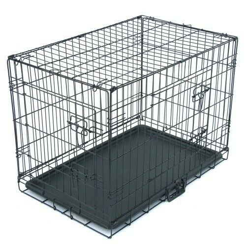 Medium Dog Crates and Kennels 30 Double Door Dog Crate with Divider Panel x $49.99