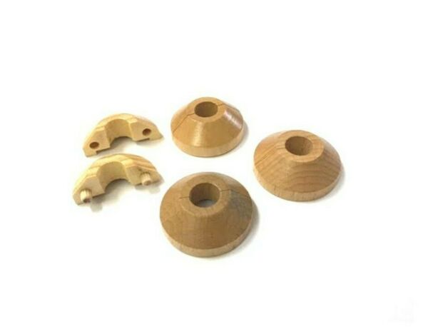 Solid wood radiator floor collars. Surround finish. 15mm pipes. Top Quality $16.81