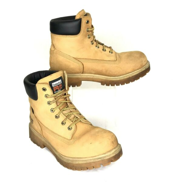 Timberland Men#x27;s PRO® Direct Attach 6quot; Steel Toe Boots Wheat Nubuck 10.5 W $87.97