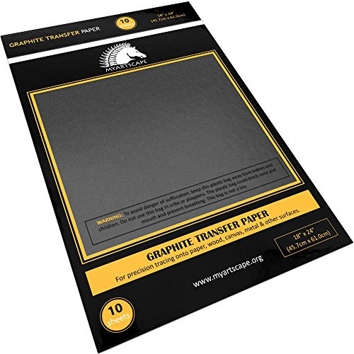 Graphite Transfer Paper 18quot; x 24quot; 10 Sheets Waxed Carbon Paper for Tracing $21.98