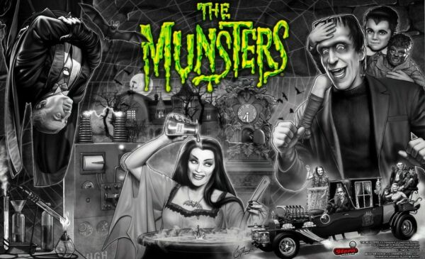 THE munsters PHOTO car cast and LAB 8 X10 USA SHIP ONLY