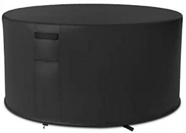 SHINESTAR 50 Inch Round Fire Pit Cover for 48 50 Patio Fire Pit or Fire Pit Tab