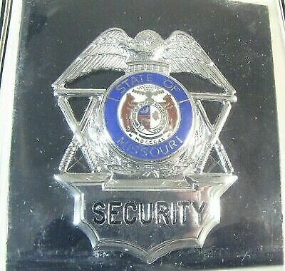 Obsolete New Cadet Mfg Premium Security Officer Badge Shield Missouri Seal 2E3
