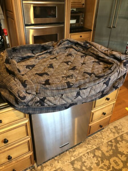 ORVIS Dog Couch 2 Piece DOG BED LARGE Cover Only Lab Plaid Mono $79.99