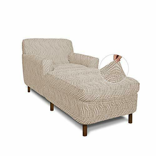 Chaise Lounge Cover Lounge Chair Sofa Slipcover Chaise Lounge Beige Vento $282.86