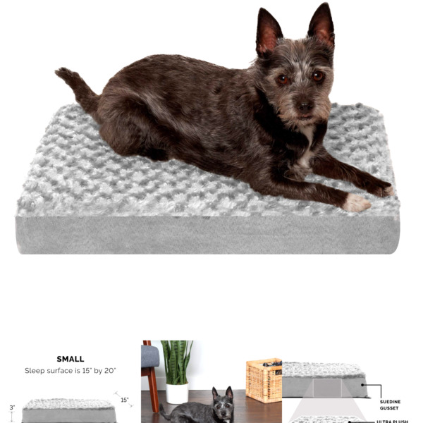 Furhaven Traditional Orthopedic Rectangular Mattress Dog Bed Available in... $17.85