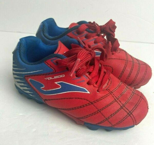 Joma Toledo Toddler Soccer Cleats Turf Size 6 7 Red Blue $12.99