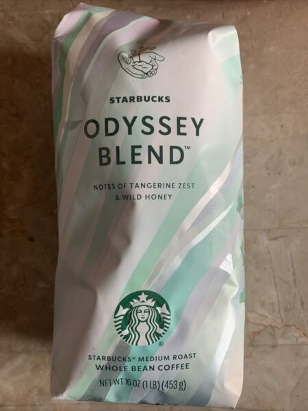 Starbucks Whole Bean Coffee Odyssey Blend 16oz Bag New Factory Sealed 9 15 21