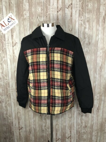 Men's Dsquared2 Sz:54 Slim Fit XL Plaid Fleece Full Zip Jacket Coat Italy N31 $39.90