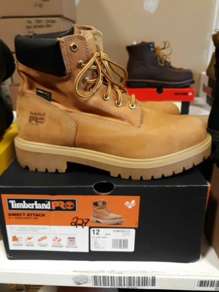 Men#x27;s Timberland PRO Direct Attach Leather ST Boots 12 M FREE SHIPPING #227 $99.99