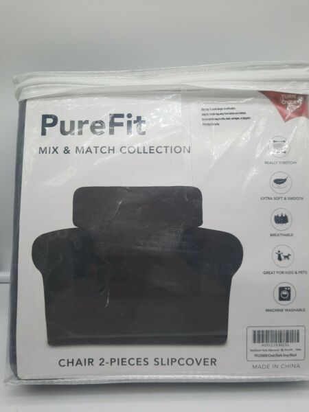 Pure Fit Chair Slipcover 2 pieces Black $34.99