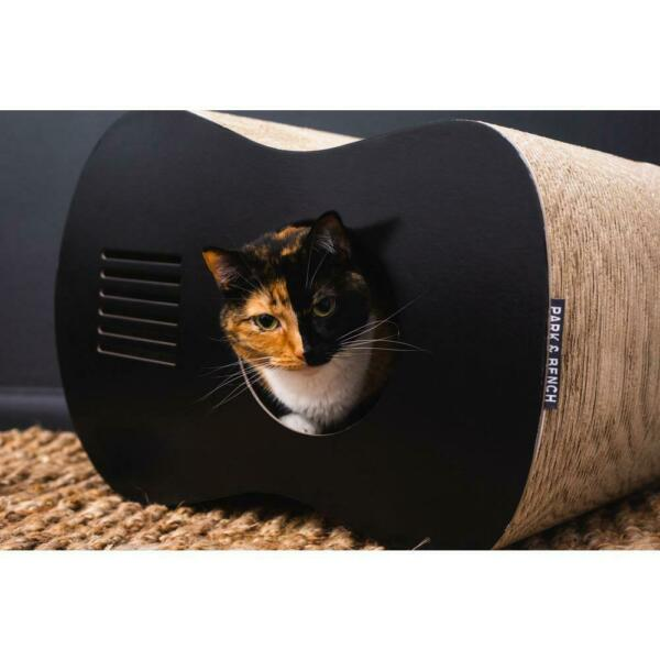 Tremolo Cat Scratcher House Pet Furniture Guitar Shaped Cozy Western Style Black $65.99