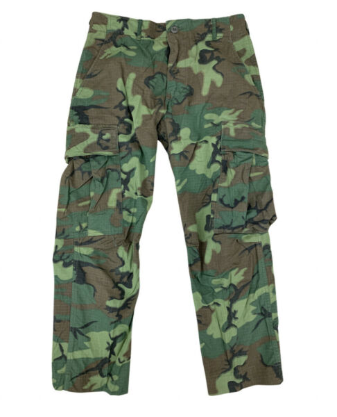 Vintage 60s US Military ERDL Camo Ripstop Jungle Combat Pants Trousers 30x28 EUC $79.99