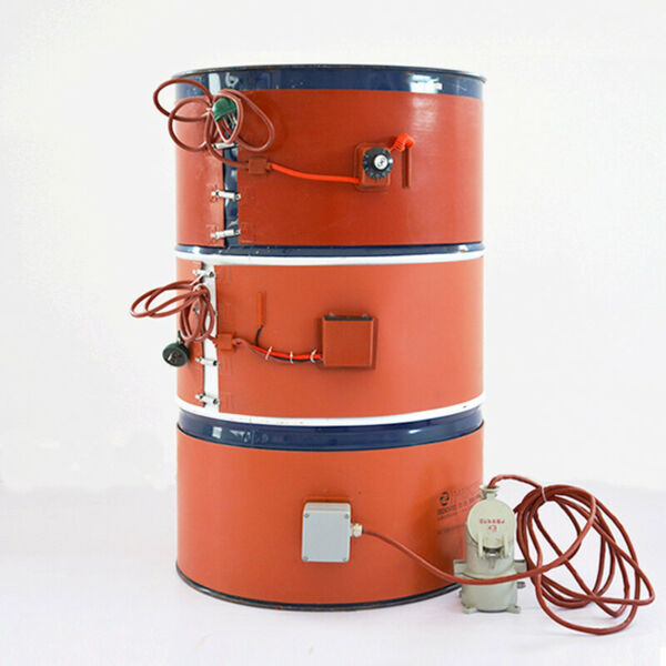 USED 110V Temperature Control Oil Drum Heater Thick 250*1740*1.8mm 2Kw $91.08
