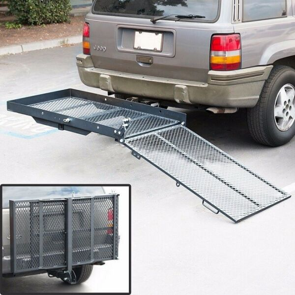 400 lb Foldable Wheelchair Hitch Carrier Mobility Scooter Folding Hitch Carrier $219.99