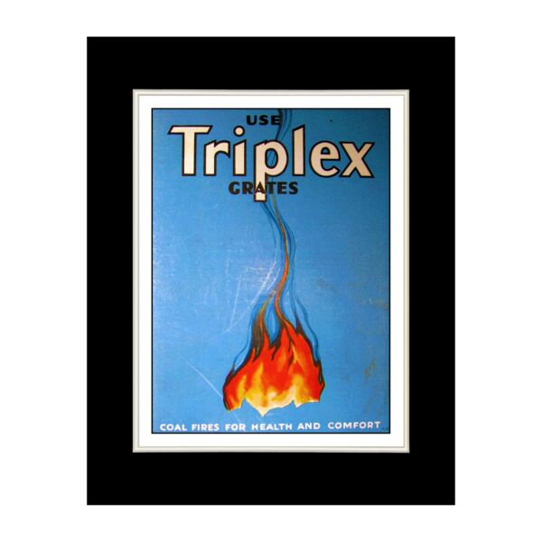 Triplex Fire Grates Matted for 11x14 Frame