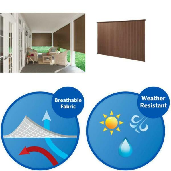 8 Ft Window Sun Shade Blind Roller Roll Up Exterior Cordless Patio Outdoor Porch $78.99