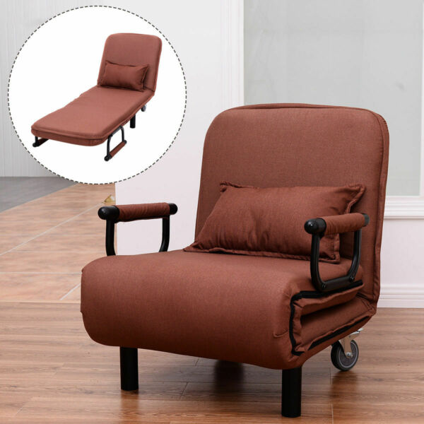 Convertible Sofa Bed Folding Arm Chair Sleeper Leisure Recliner Lounge Couch New $169.95