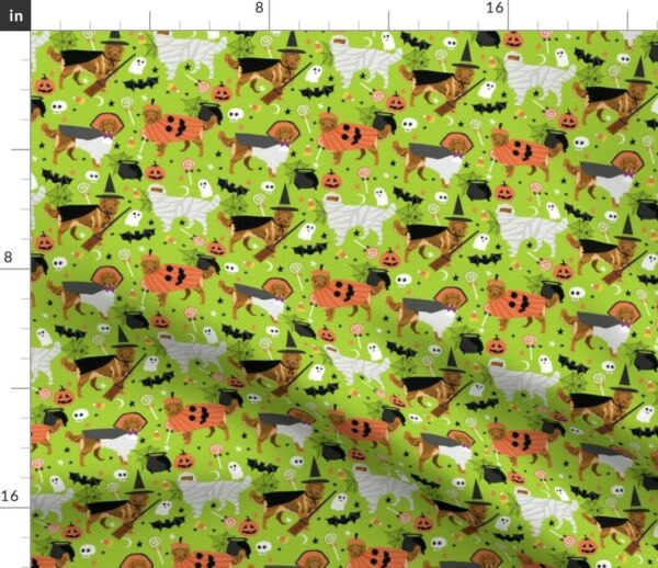 Dog Dogs Halloween Dog Dog Breed Dog Nova Scotia Spoonflower Fabric by the Yard $13.00