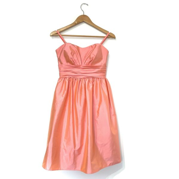 Eliza J prom Cocktail dress Sz 6 flamingo pink convertible Strap Strapless Short