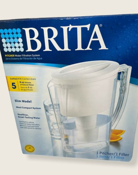 Brita Pitcher Water Filtration System 5 Cup Slim Model Filter Included
