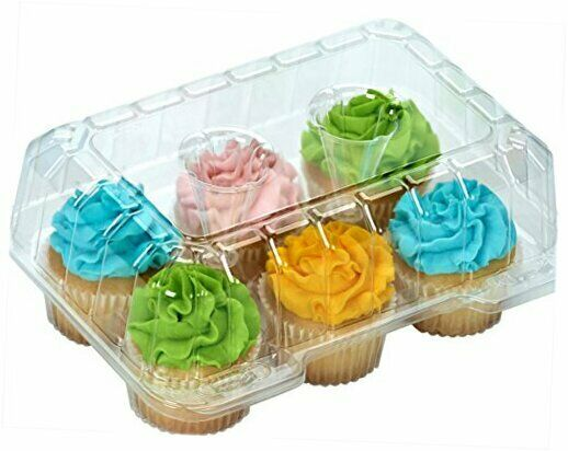 Clear Cupcake Boxes Cupcake Containers Plastic Disposable cupcake boxes