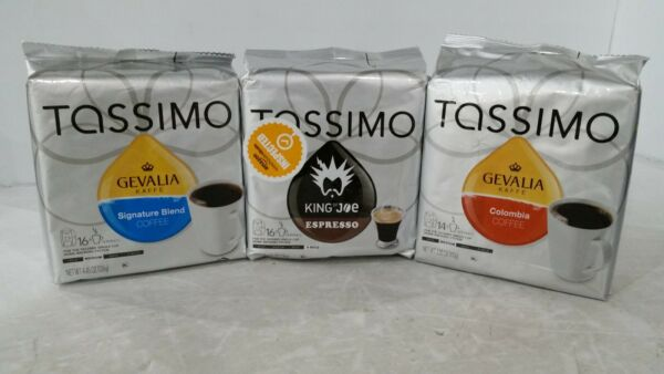 QTY OF 48 Tassimo spresso Colombia amp; Signature Blend.
