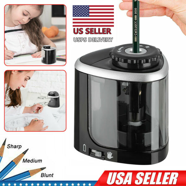 Electric Pencil Sharpener Automatic For Home School Office Kids Battery Operated $8.99