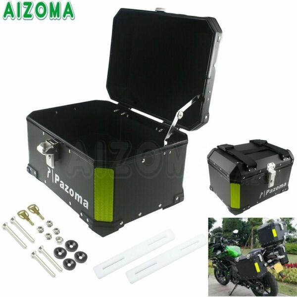 Aluminum Motorcycle 45L Rear Top Box Case Luggage Trunk For Harley Honda BMW $279.72