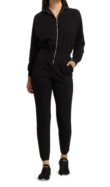 NEW Electric and Rose Mojave Jumpsuit In Onyx Black Size Small $109.00