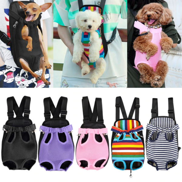 Puppy Dog Bag Pet Carrier Pouch Breathable Mesh Shoulder Backpack for Small Me $23.19