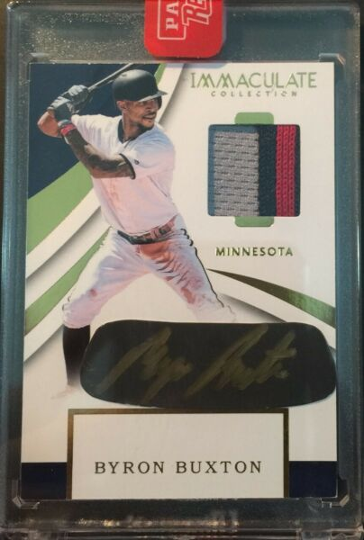 2018 Immaculate Byron Buxton Carbon Material Signatures Patch Autograph Auto $59.95