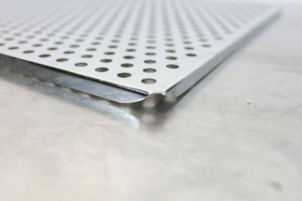 Stainless Steel Perforated Sheet 3 8 inch Holes 18quot; x 18quot; 304 16 Gauge