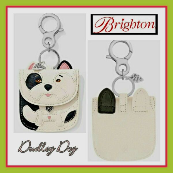 Brighton Your Bag DUDLEY DOG Leather Coin Handbag Purse Key Fob MSRP $50. NWT $32.00