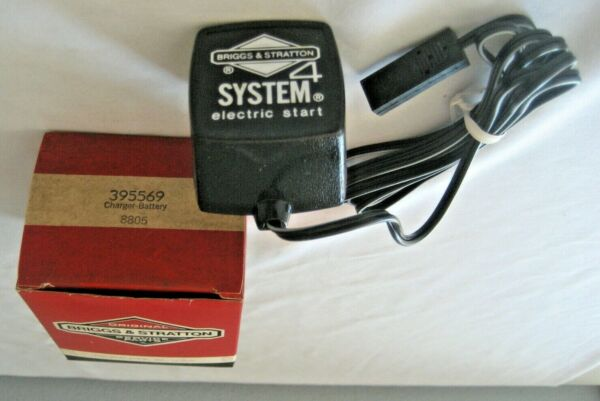 BRIGGS amp; STRATTON SYSTEM 4 ELECTRIC START BATTERY CHARGER 395569 $19.95