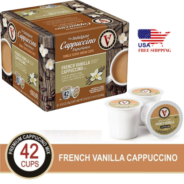 Cappuccino Pods Flavored Coffee K Cups Single Serve French Vanilla Keurig 42 Cup
