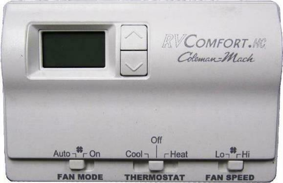 Coleman Mach 83303362 Digital Heat Cool Wall Thermostat White Thermostat $105.73