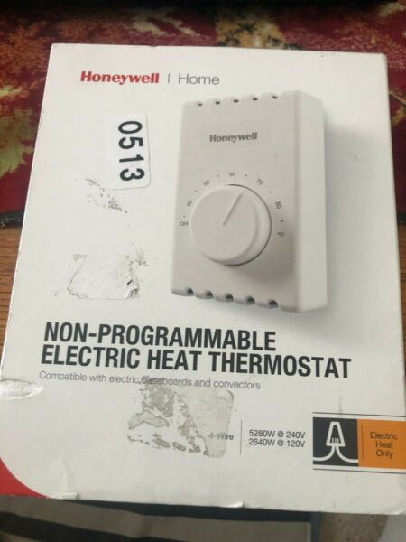 Honeywell Non Programmable Electric Heat Thermostat CT410B1017 27660 OPEN BOX $15.00