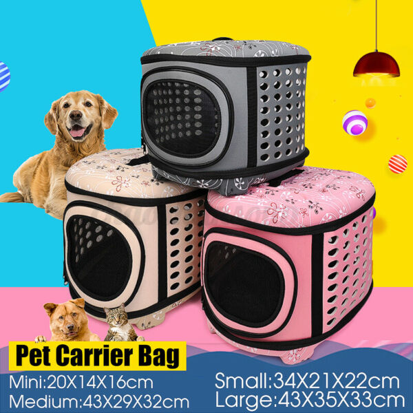 Portable Pet Carrier Foldable Pet Cat Dog Bag Shoulder Bag Travel Bag Backpack $19.99