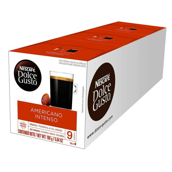 48 Pods Nescafe Dolce Gusto Coffee Capsules Americano Intenso BEST BY 4 2021